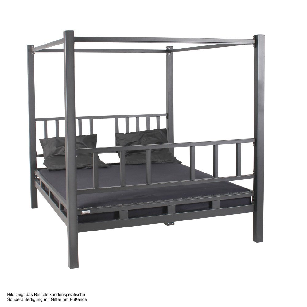 Stahlbett mit Himmel, solides BDSM Metall Himmelbett, 1.549,00 €