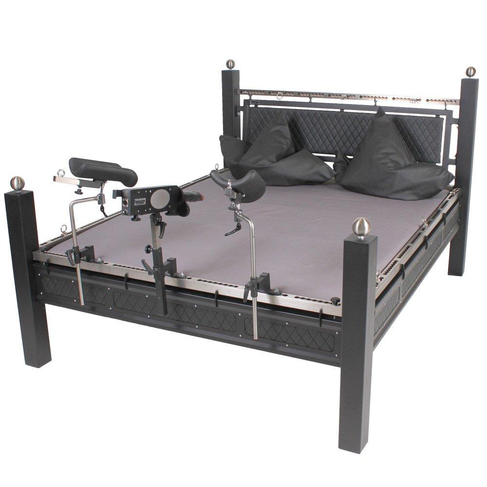 BDSM Bett aus Stahl mit Ösen und Systemschiene, 2.399,00 €